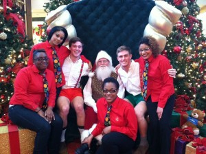 Santa and four of my favorite elves